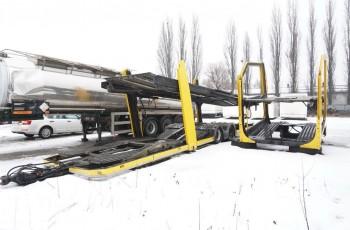 Inny EHR LOHR 1.21 autotransporter zabudowa + przyczepa , LOHR zestaw , autotransporter , zestaw na 8-12 aut , przewóz pojazdów ,