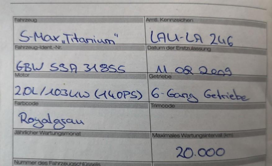 FORD S-Max S-max 2009r 2.0 TDCI 140KM Titanium Bardzo zadbany Opłaty Gwarancja zdjęcie 14