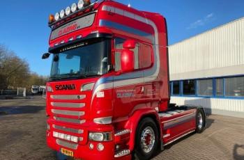 Scania V8 R520 pełna opcja skóra navi kelsa orurowanie alcoa Scania 600 Tkm