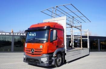 Mercedes Actros 2536 , E6 , low deck MEGA , 6x2 , Burtowa + pladneka podnoszona , podnoszony dach , 2 x pełne boczne otwarcie , retarder , mocowanie widlaka , wys 2.9m , retarder , kabina s