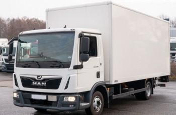 MAN TGL 8.190 , E6 , 20.000km , 6 sztuk , kontener 6.1m , winda , manual , skrzynia , box , izoterma , furgon , koffer 4x2