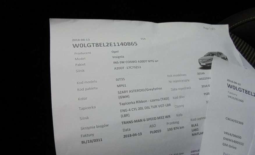 Opel Insignia Pełen serwis , bezwypadkowa , wyposażona , super zadbana, zarejestrowana zdjęcie 38