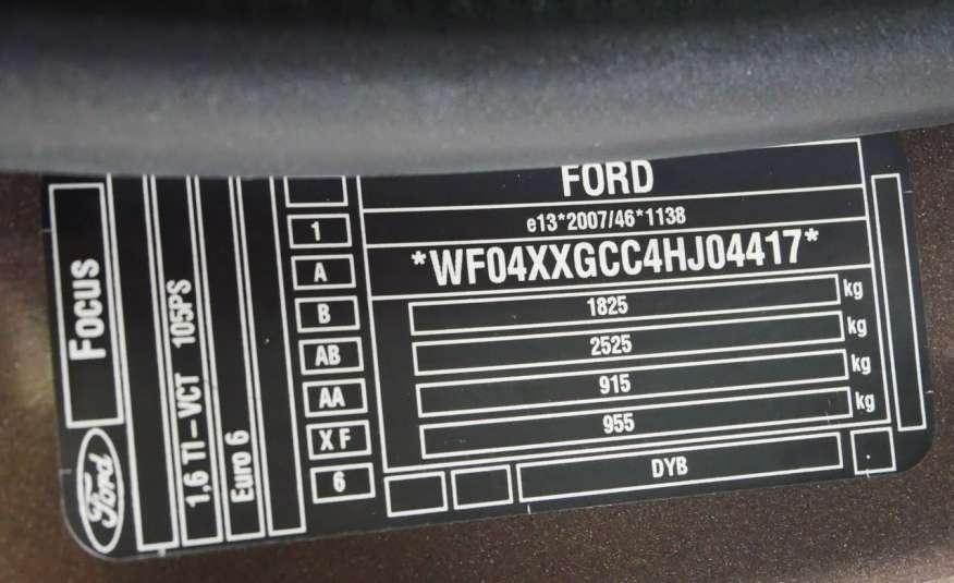 FORD Focus 1.6 Benzyna • Salon Polska • Serwis • Bezwypadkowy • GWARANCJA zdjęcie 20