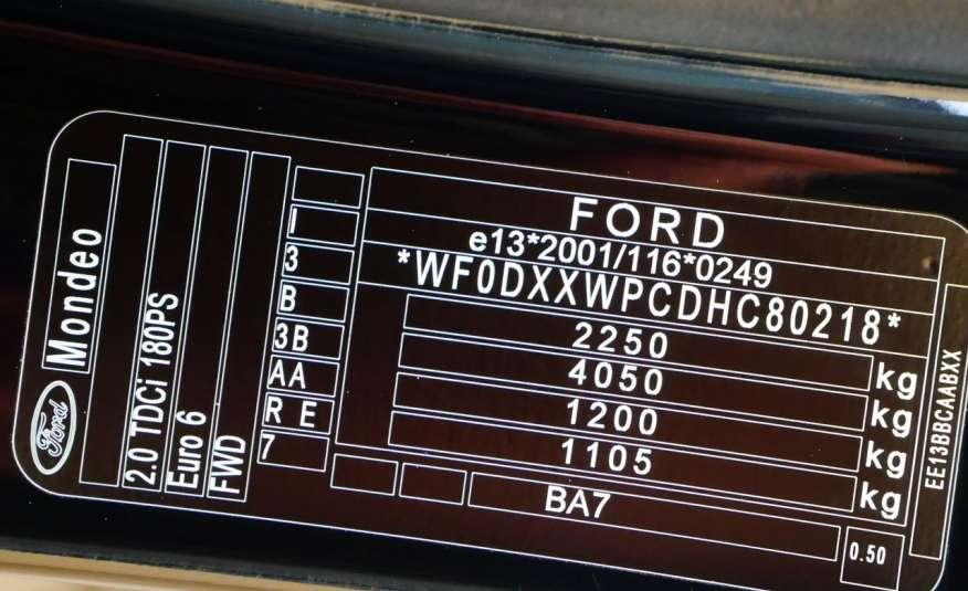 FORD Mondeo VIGNALE 2.0 TDCi 180KM • Salon Polska • Serwis ASO • Bezwypadkowy zdjęcie 17