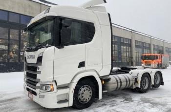 Scania R 410 , pod gaz LNG , 150.000km , NOWY MODEL , 6X2 Boogie , retarder , ACC , sypialka , lodówka , zbiornik 740l ,  , koń