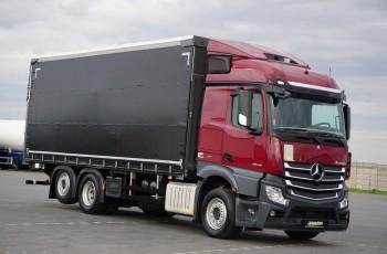 Mercedes / ACTROS / 2543 / E 6 / 6 X 2 / FIRANKA + WINDA / 18 EUROPALET / ŁAD. 15 020 KG 6x2