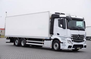 Mercedes / ACTROS / 2542 / E 6 / 6 X 2 / CHŁODNIA + WINDA / 21 EUROPALET / DŁ. 8.7 M / OS SKRĘTNA