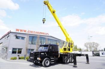 Scania T 142E , 6x4 , żuraw Herkules RK80 , max 31m / 17, 500kg , kabina sypialna , żuraw , dźwig samochodowy , szosowo terenowy , podnośnik
