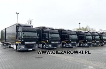 DAF CF 370FA , E6 , MEGA , zestaw przejazdowy JUMBO 120m3 , 38 EPAL , przesuwny dach , retarder , 2 łóżka , podwójna obsada , serwis DAF , krajowy , ACC , lodówka , zestaw pojemnośći