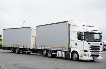Scania / R 450 / ACC / EURO 6 / ZESTAW PRZESTRZENNY 120 M3