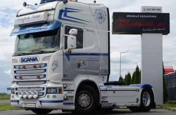 Scania R 520 / V8 / TOPLINE / RETARDER / E 6 / BARDZO BOGATE WYPOSAŻENIE / SKÓRY / NAVI / I-COOL /