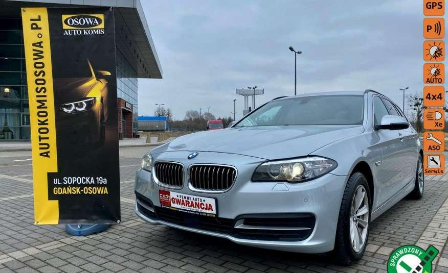 BMW 525 2.0 twin turbo 218KM, x drive, automat, skóry, bi xenon, led, rok gwarancji zdjęcie 1