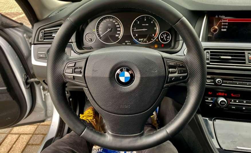 BMW 525 2.0 twin turbo 218KM, x drive, automat, skóry, bi xenon, led, rok gwarancji zdjęcie 12