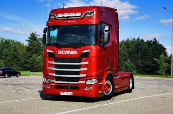 Scania S500 max wyposażenie całość na poduszce skóry Led Klima postojowa ASO Z NIEMIEC