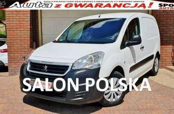 Peugeot Partner TYLKO-86 tys km 100KM VAT-1 Tempomat AC, Salon PL, I WŁ F.vat23%,
