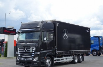 Mercedes ACTROS 2545 / FIRANKA - 60 M3/ DŁ: 7.75 M / GIGA SPACE / EURO 6 / I-COOL / 6x2