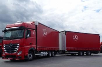 Mercedes ACTROS 2545 / ZESTAW TANDEM 120 M3 / PRZEJAZDOWY / I-COOL / ACC / 6x2