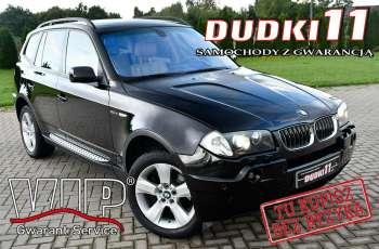 BMW X3 3.0D 4X4, Serwis, Skóry, Podg.Fotele.Navigacja, .GWARANCJA