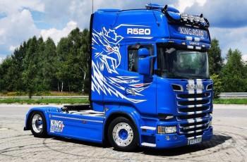 Scania R520 V8 2015 low deck mega pełna opcja ASO scania 2015