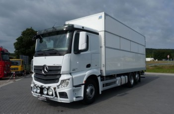 Mercedes ACTROS 2645 / EURO 6 / KONTENER + WINDA /