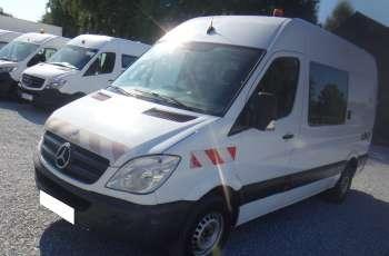 Mercedes 313CDi brygadówka doka dubel kabina 7-osób klima tempomat + mobilna stacja paliw CPN