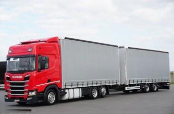 Scania / R 410 / SSC / ACC / EURO 6 / ZESTAW PRZEJAZDOWY 120 M3 / OŚ SKRĘTNA
