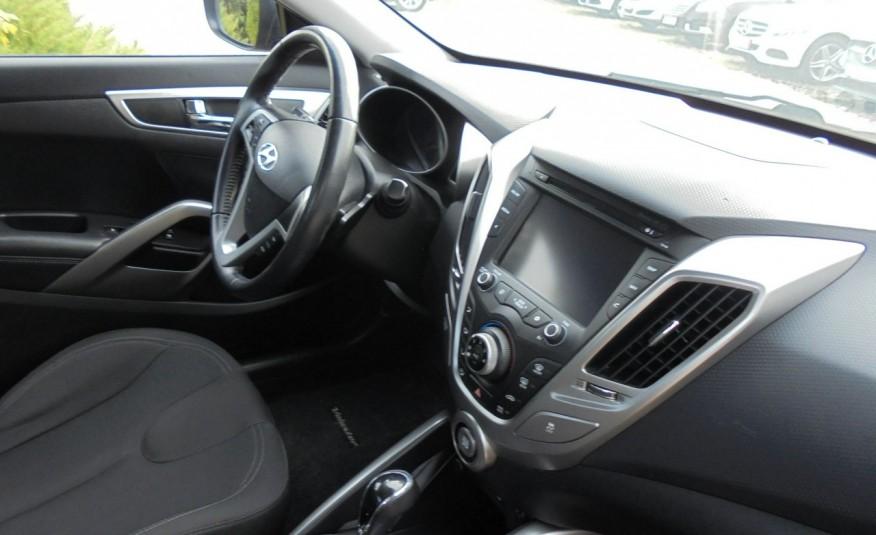 Hyundai Veloster Bezwypadkowy, opłacony , silnik 1.6 -benzyna-piękny kolor, serwis, AUTOMAT zdjęcie 26
