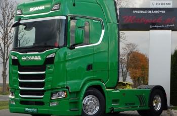 Scania S 500 / RETARDER / NOWY MODEL / NAVI / ALUFELGI / 2018 R /